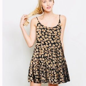 Brandy Melville Black White Daisy Mini Dress